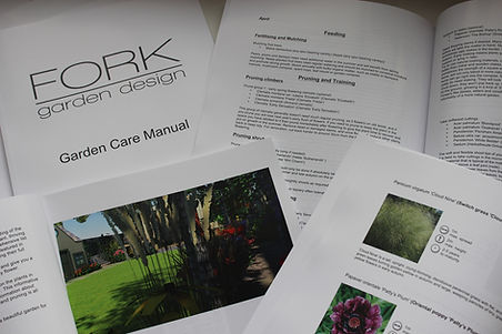 Garden care manuals by Fork Garden Design