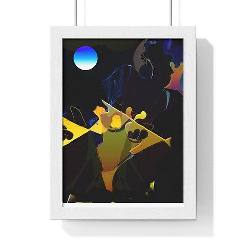 FULL COLOUR ABSTRACT POSTER /Premium Framed Vertical Poster