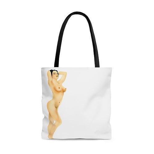 Nude Woman, ART DRAWING...AOP Tote Bag.