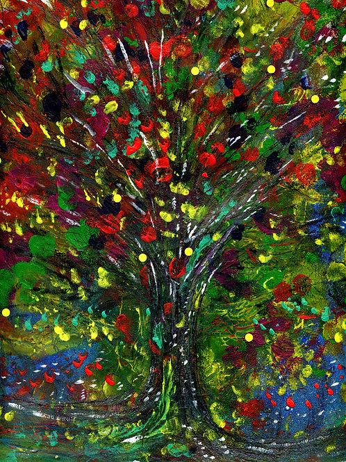 "Abstract ""Tree"" artwork. Acrylic and CANVAS art."