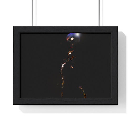 Satellite Woman FIGURE ART PRINT....Premium Framed Horizontal Poster