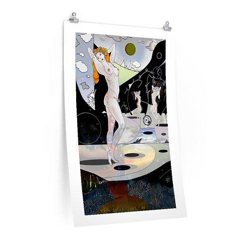 White Lady....Premium Matte vertical posters.