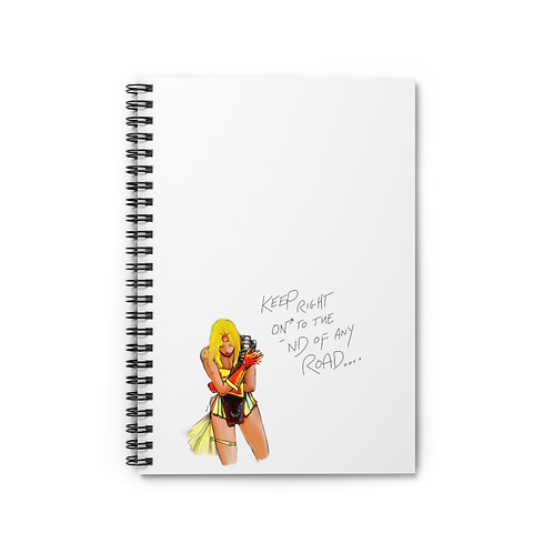 FULL COLOUR, SEMI-NUDE FEMALE FIGURE DRAWING...Spiral Notebook - Ruled Line.