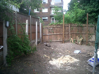 Soil and fencing on a landscap building site