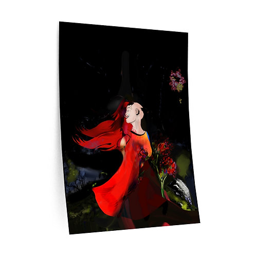 """Honey Orange"" Female Figure, Muti-coloured DIGITAL ART. Wall Decals."