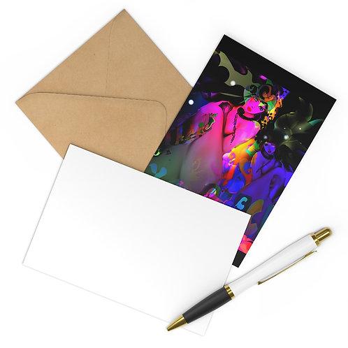 Psychedelia, FEMALE FIGURES, Multi-Colour Art Print. Postcards (7 pcs).