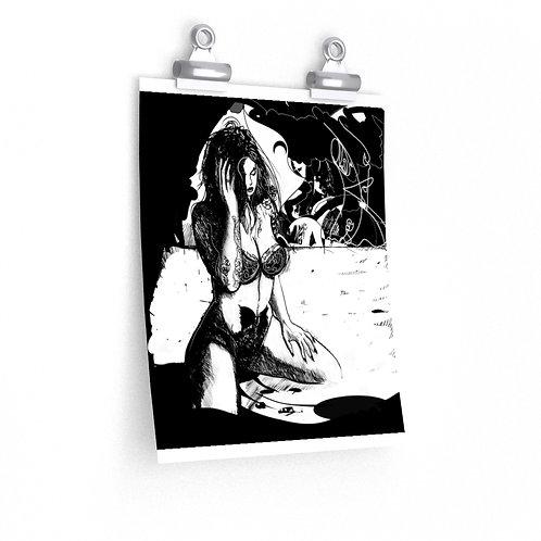 Dark line, ART PRINT...Premium Matte vertical posters