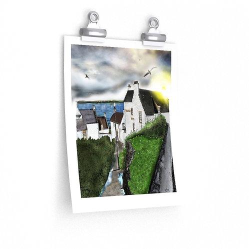 Dysart, FIFE, SCOTLAND.  Premium Matte vertical posters.