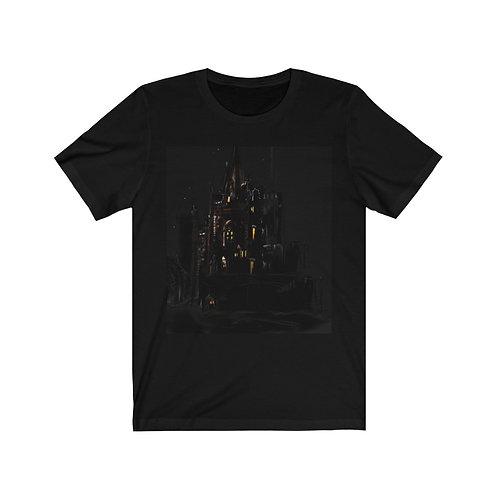 Church Spire ART PRINT....... BLACK......Unisex Jersey Short Sleeve Tee.