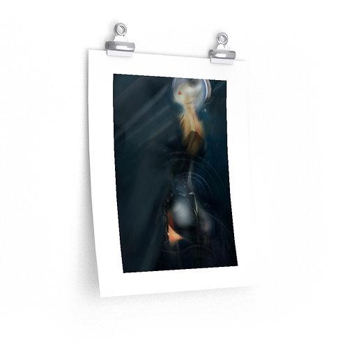Metallic Girl....Premium Matte vertical posters.