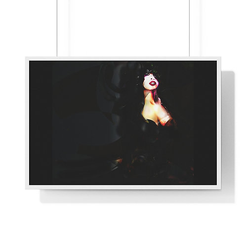 Woman in BLACK.....Premium Framed Horizontal Poster.