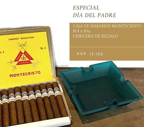 Caja de Montecristo n 4 x 10 más cenicero de regalo