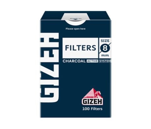 Filtros Gizeh slim   6 mm charcoal