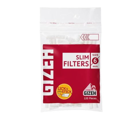 Filtros Gizeh slim filter rojo 6mm