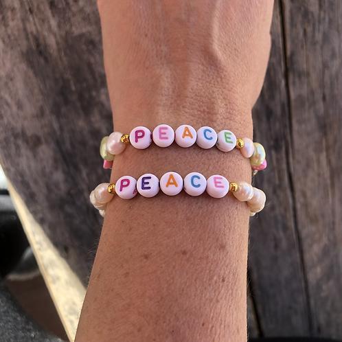 Pulsera candy Perlas de rio