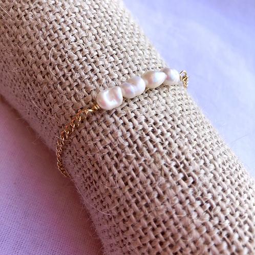 Paris pulsera Perlas de rio