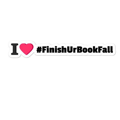 I Heart #FinishUrBookFall Sticker
