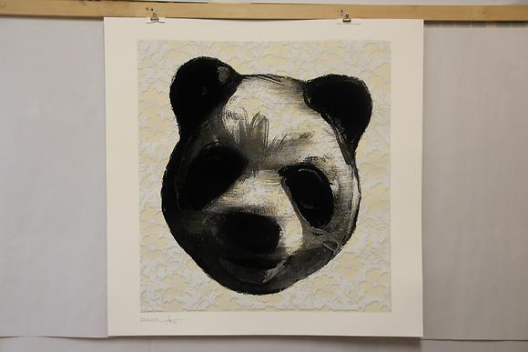 Flocked Panda Head #85