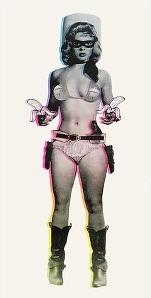 Candy Barr (RAINBOW with Black Overlay)