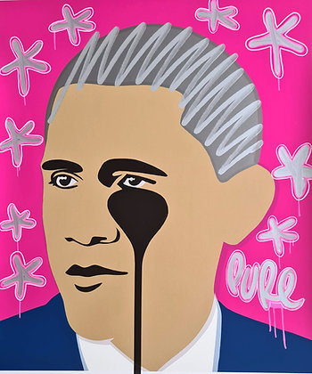 Crying Obama - Pink Flouro Drips
