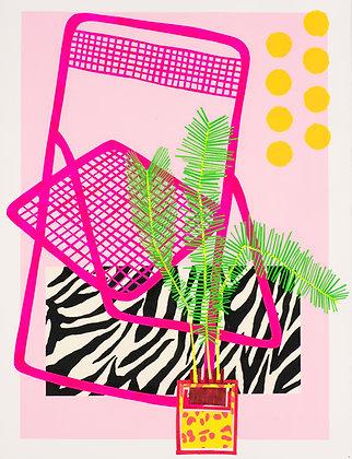 Neon Chair& Fern