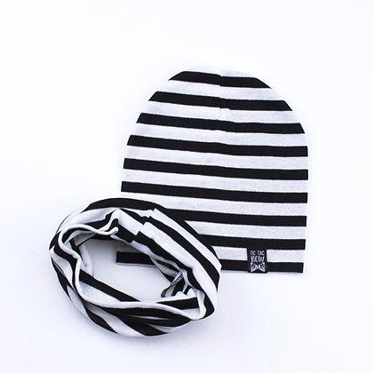 Tuque Et Foulard Noir