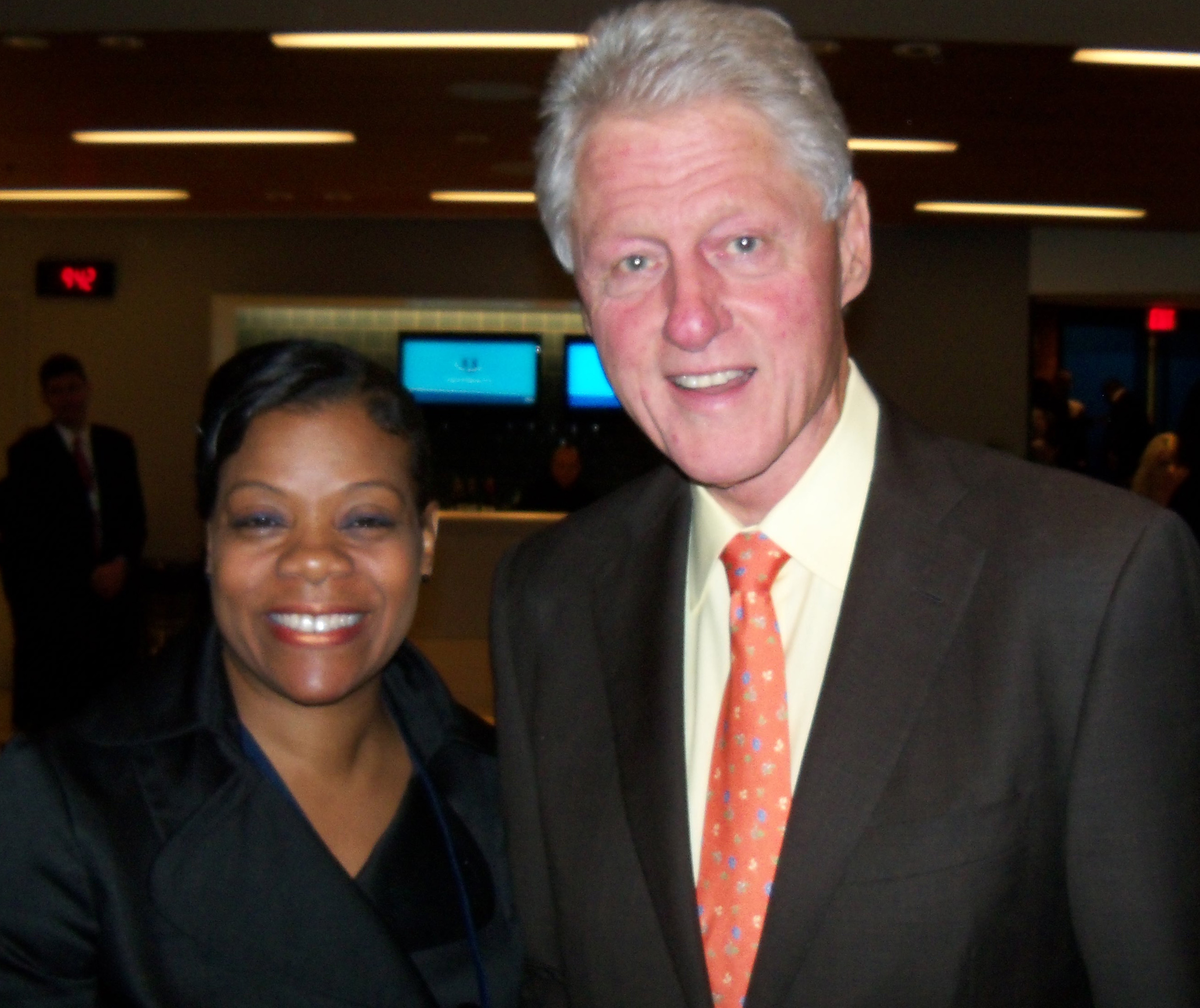 Janice and Fmr Pres Bill Clinton