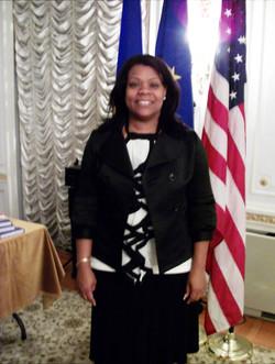 Janice at Romanian Embassy