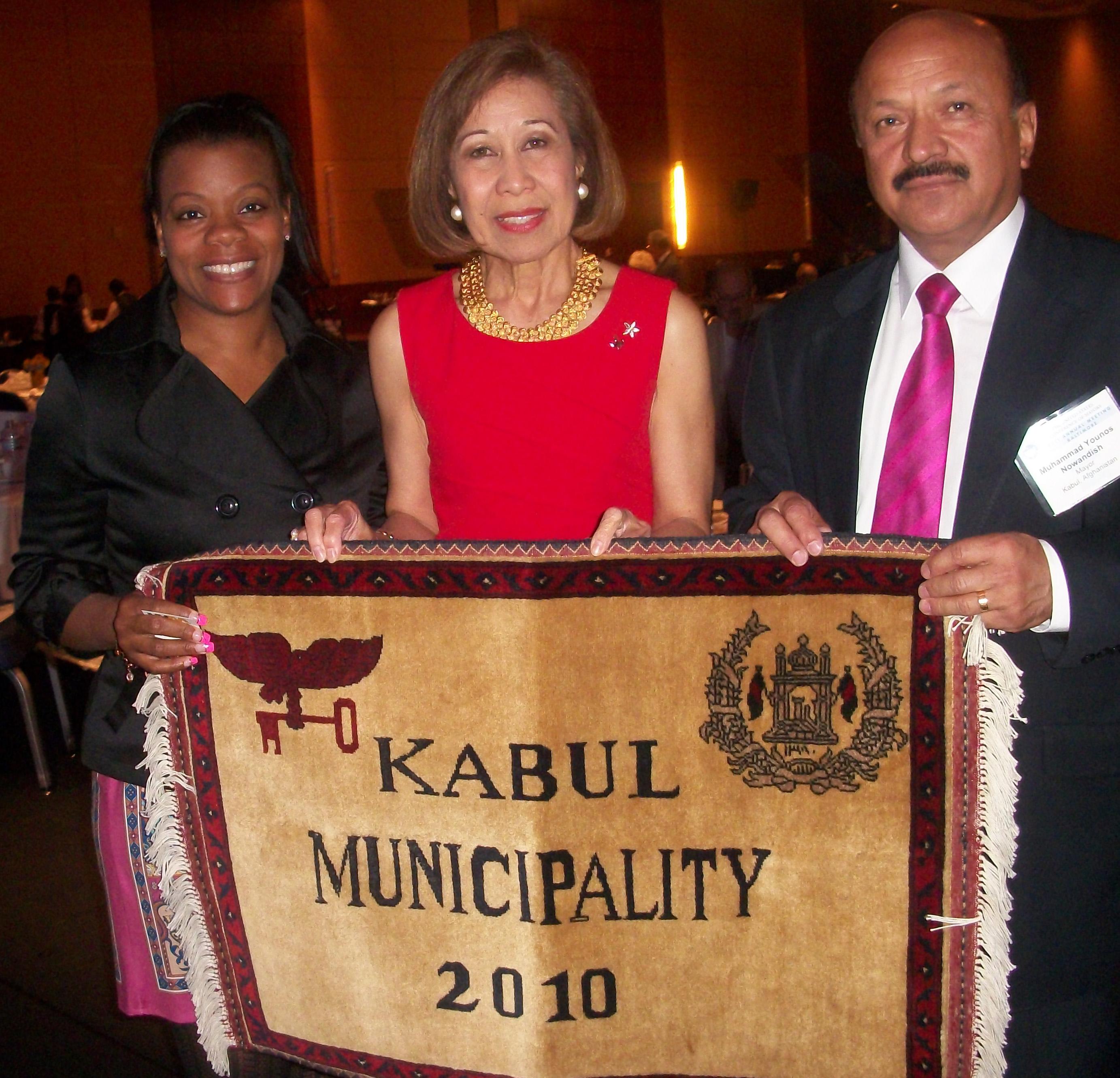 US Mayors Conf-Janice & Kautz, Kabul