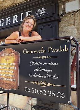 Peintre en lmettre et décor : Genowefa