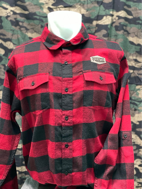 Nukumoi Plaid LS Camping Flannel