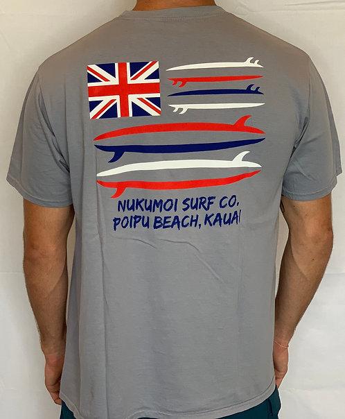 Nukumoi Surboard Flag Pocket Tee