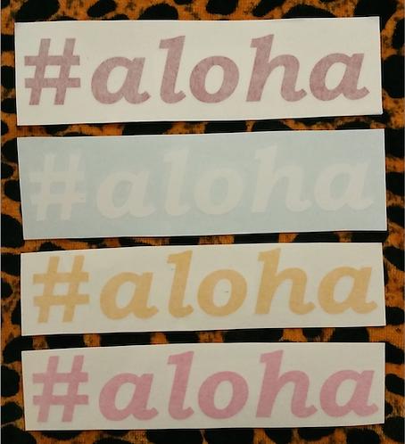 #aloha Decal