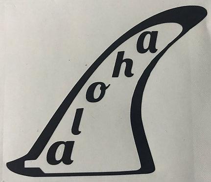 Aloha Fin Decal