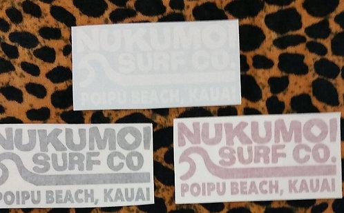 Nukumoi Wave Decal