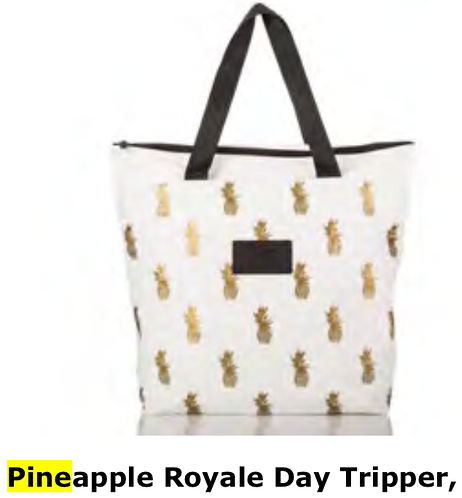 Aloha Collection Pineapple Royale Day Tripper Tote