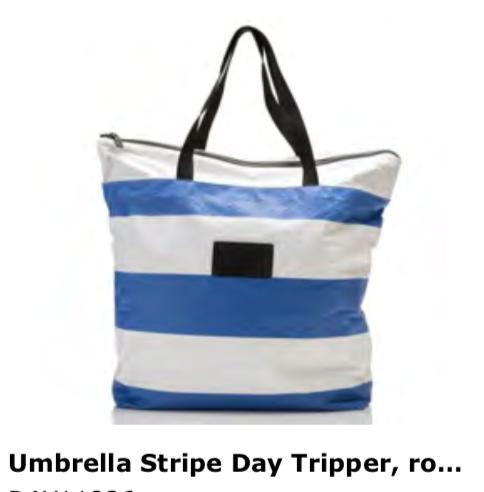 Aloha Collection Umbrella Stripe Day Tripper Tote