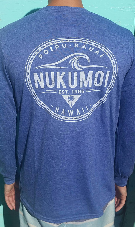 Nukumoi Waves for Days Heather Blue L/S