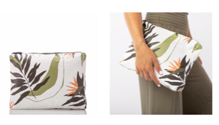 Aloha Collection Painted Birds of Paradise Mid-Size Bag