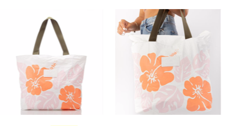 Aloha Collection Big Island Hibiscus Day Tripper Tote