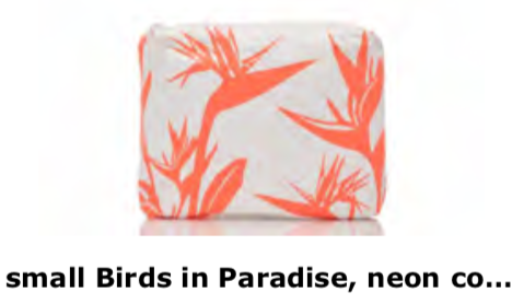 Aloha Collection Neon Coral Birds in Paradise Small