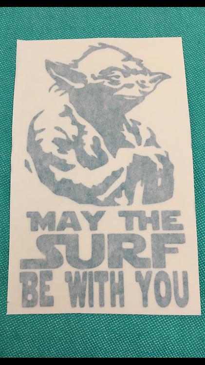 Yoda May the Surf Decal
