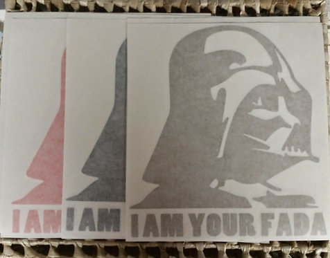 I AM YOUR FADA Small Decal