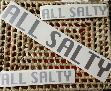 ALL SALTY Decal