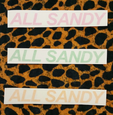 ALL SANDY Decal