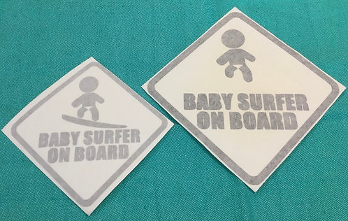 Baby Surfer on Board Decal