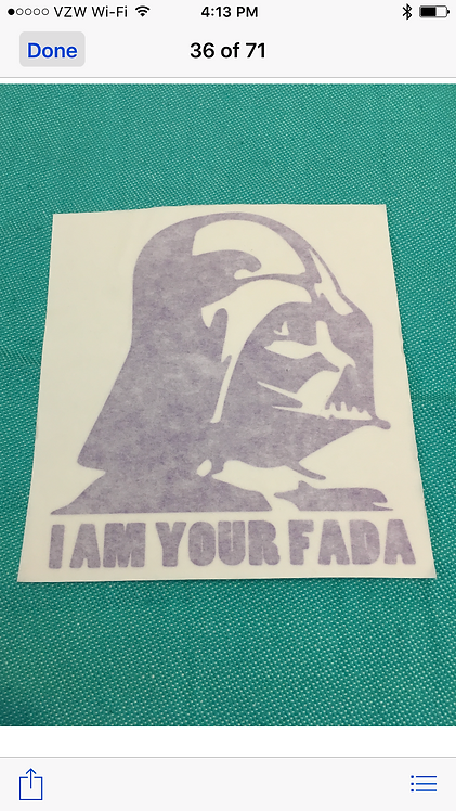 Darth I am your fada Decal