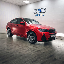 Satin Red Chrome BMW X4 Wrap