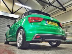 Rear Finished 3M Gloss Green Envy Audi A1