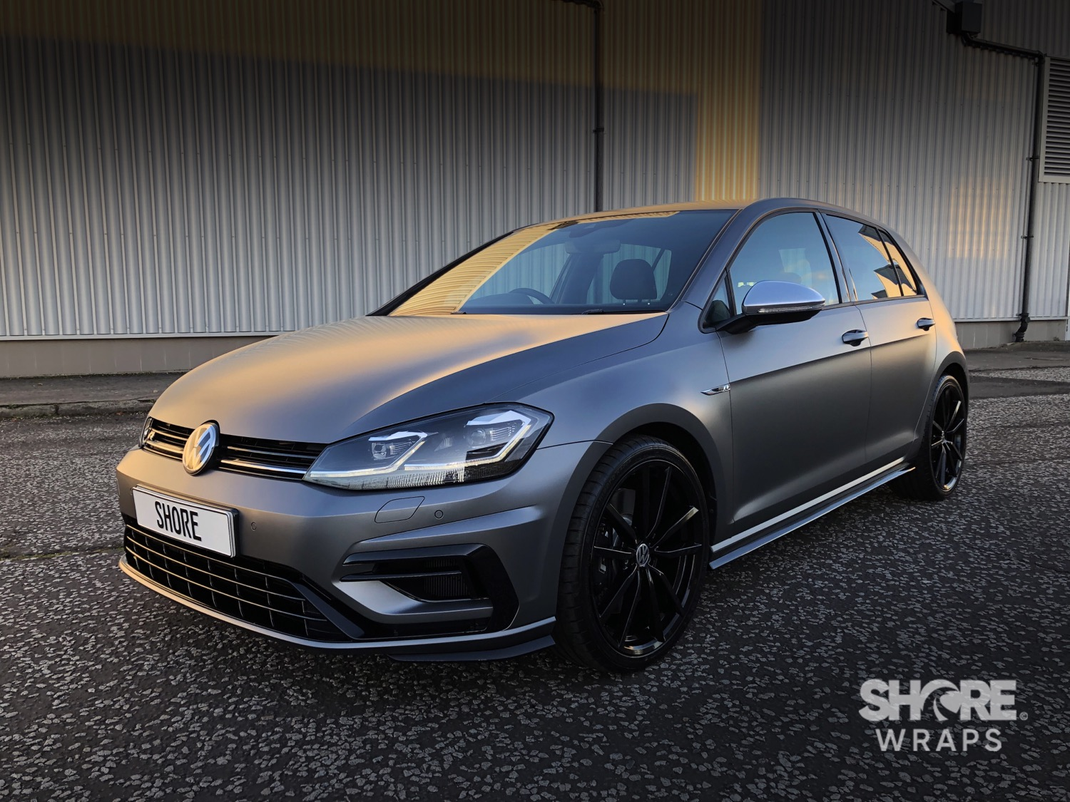Golf R Satin Grey Wrap
